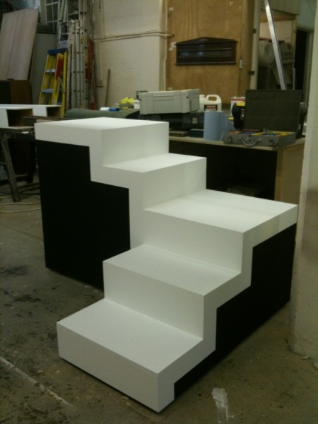 The M. C. Escher inspired staircases we have had made