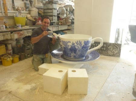 The finished Fiberglass cup and saucer!