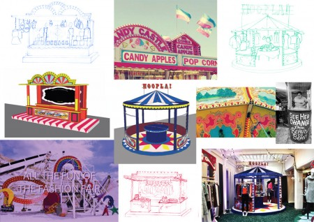 Fairground Sign Painting by George Hebborne and Lights