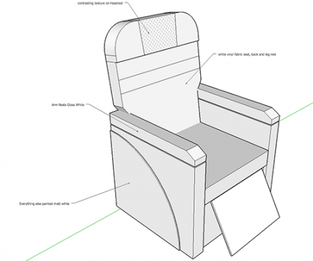 the plane chair design